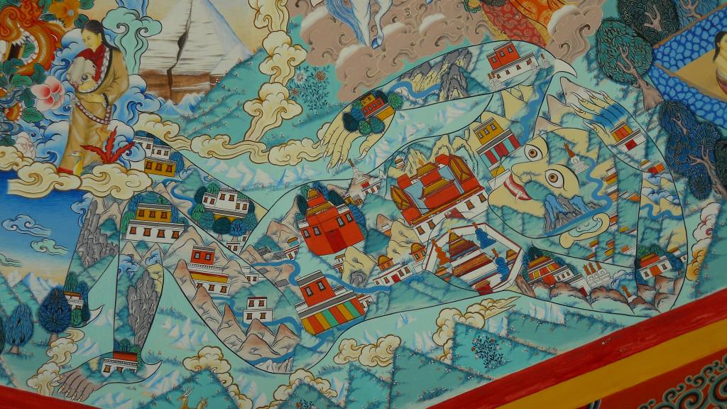 Карта Тибета как демоница